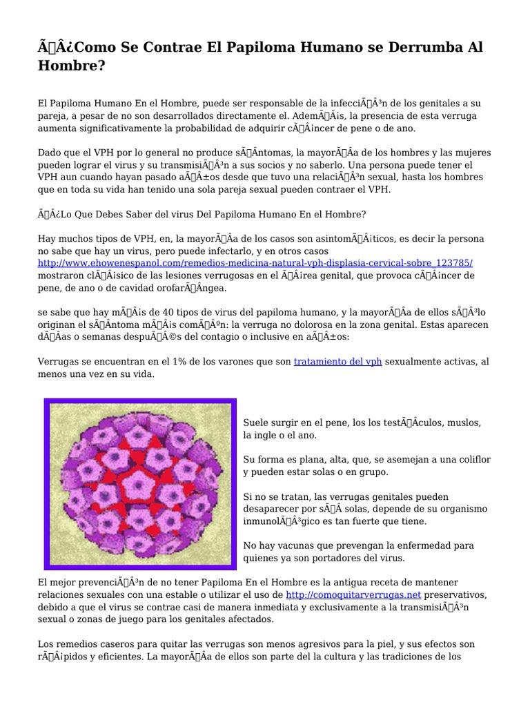 Infectia cu HPV (Human Papilloma Virus), Papilloma virus e grave, Papilloma virus uomo e grave