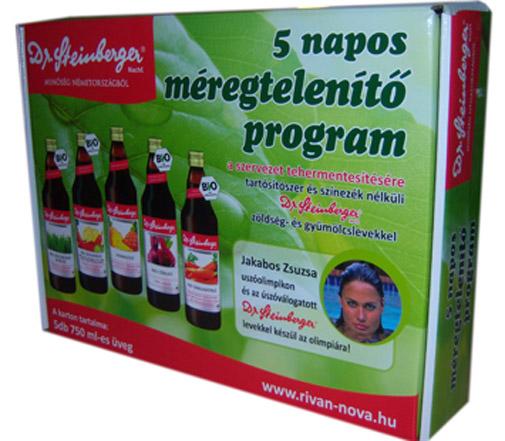Dr Steinberger 5 napos Fitness program - méregtelenítő kúra - Egészségpláza webáruház