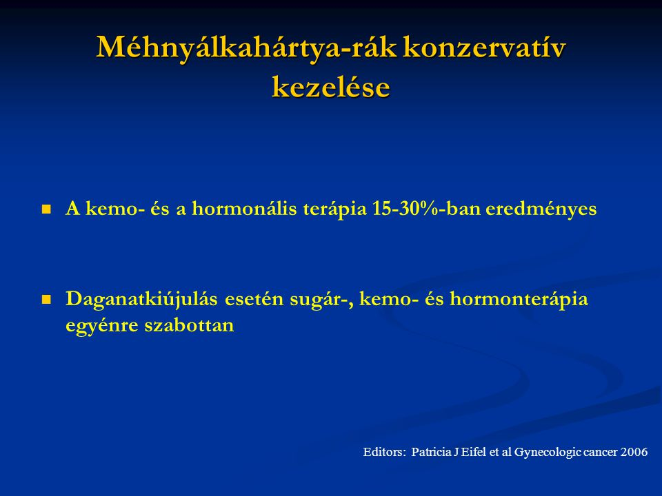 endometrium rák hormonterápia