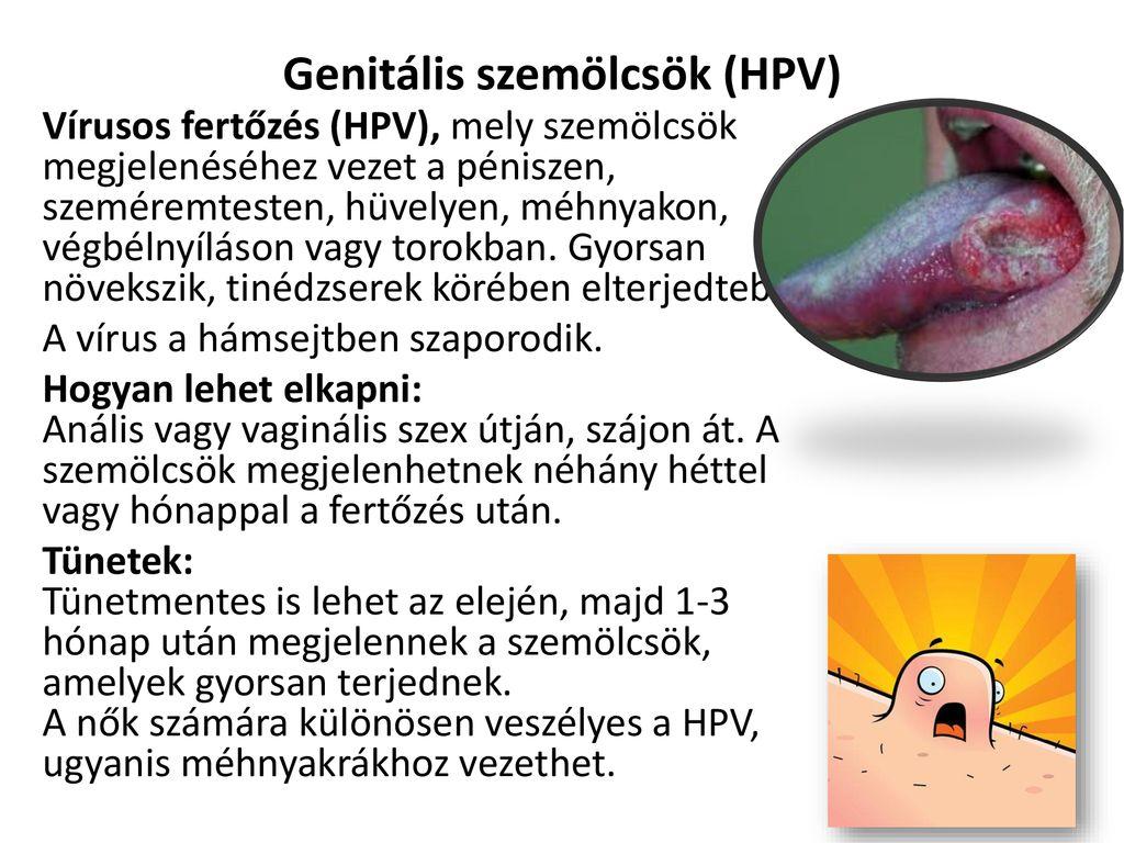 genitális szemölcsök lefolyása
