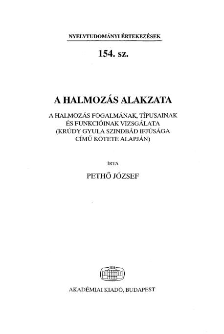c ) HUNGAROLÓGIAI KÖZLEMÉNYEK 13 ÉVF DECEMBER 4. ETO: YU ISSN DECEMBER - PDF Free Download
