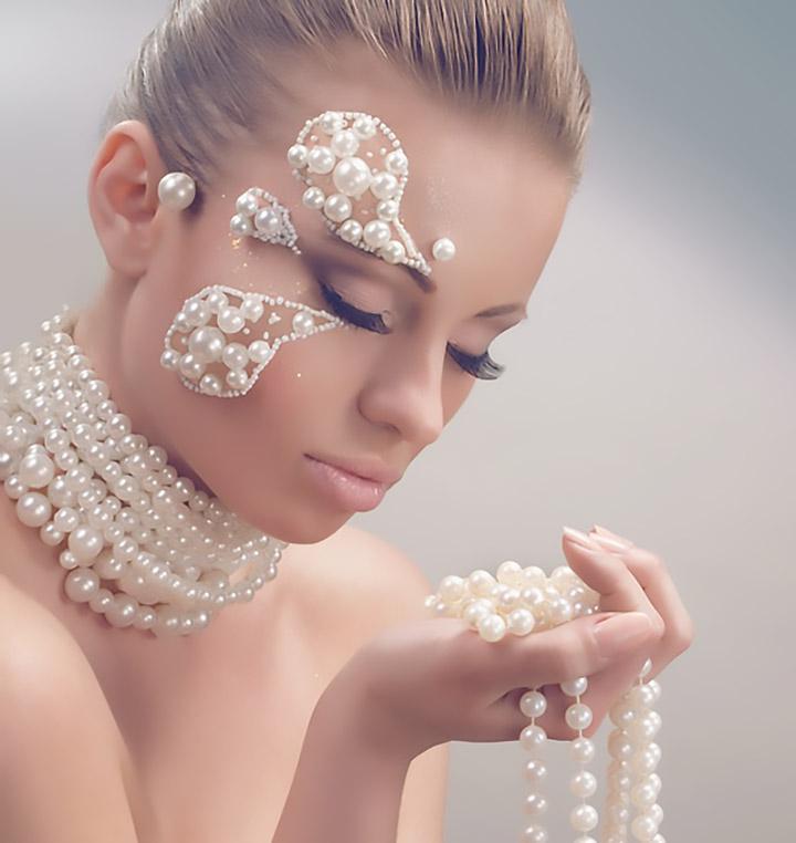 Exkluzív minőségű gyöngy és Swarovski kristályos menyasszony szett