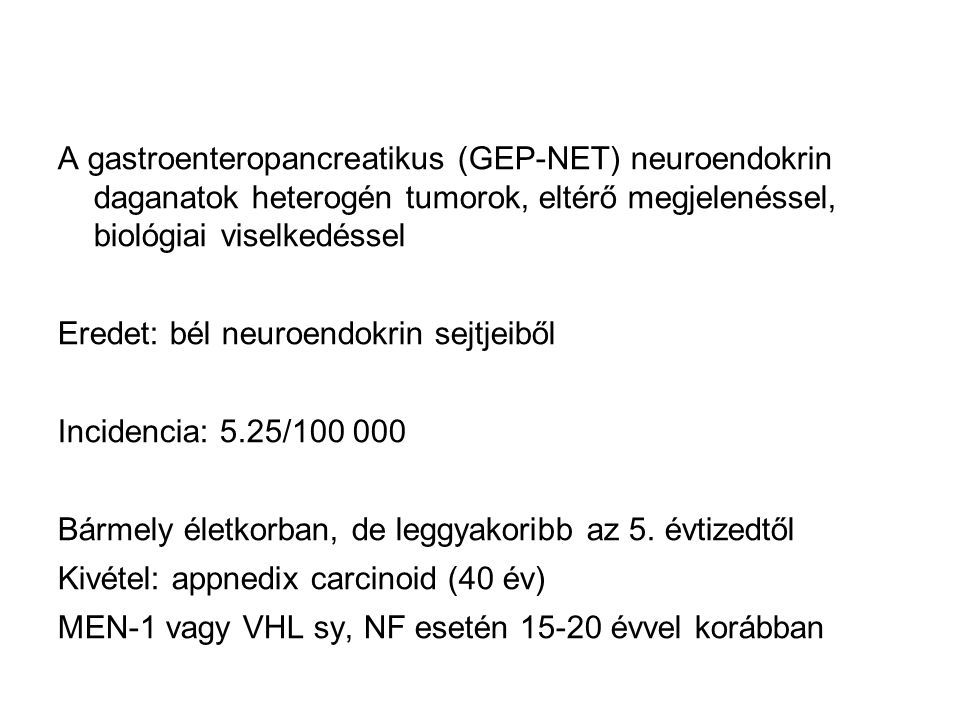 neuroendokrin genetikai rák