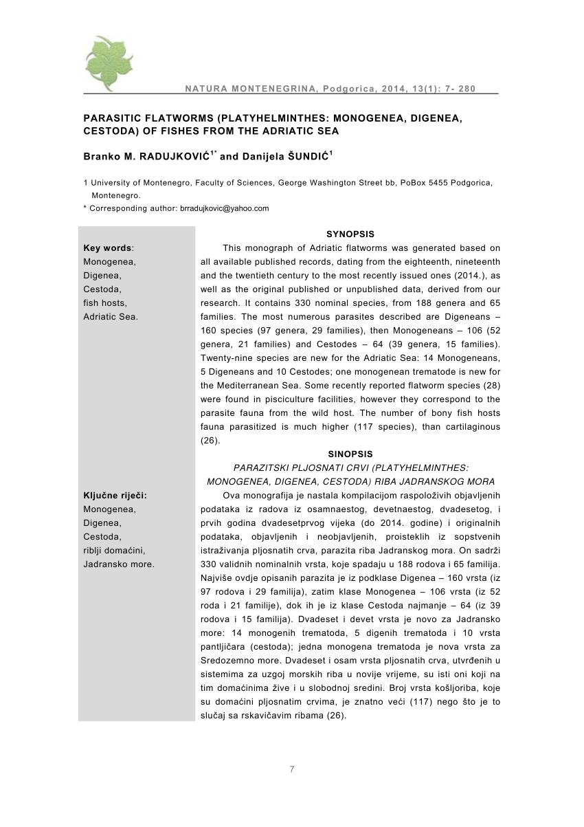 platyhelminths nem parazita