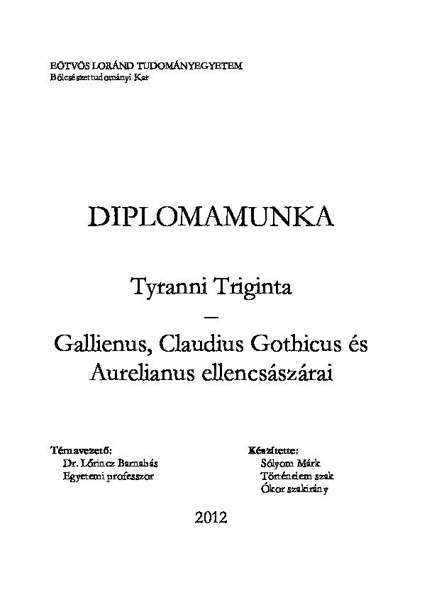 helmintológus munkaköri leírás